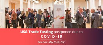 Photo for: USA Trade Tasting Postponed Over COVID 19 – New Date May 25-26, 2021