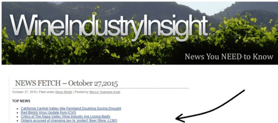 Photo for: How to Get Your Wine News On Industry News Pages
